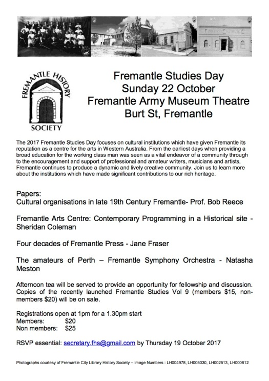 Fremantle Studies Day 2017