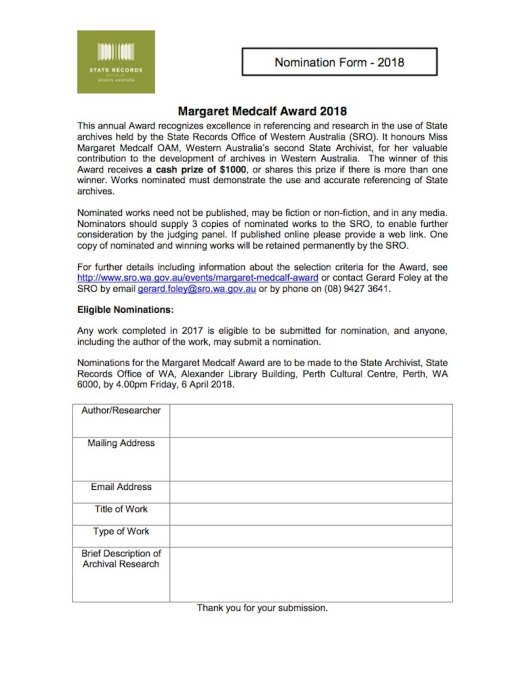 Margaret Medcalf Award nomination form_2018